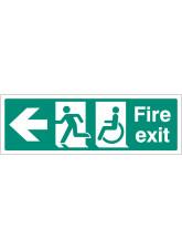 Disabled Fire Exit - Arrow Left