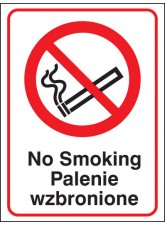 No Smoking (English/polish)
