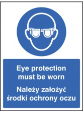 Eye Protection Must Be Worn (English/polish)