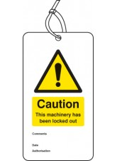 Lockout Tag - Caution this Machinery Has Been Locked Out - 80 x 150mm (Pack of 10)