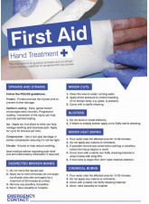 First Aid Hands Poster - 420 x 594mm