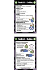 First Aid Choking - Pocket Guide - 80 x 120mm