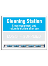 Cleaning Station Shadow Board with hanging rail