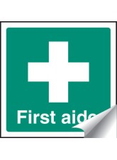 First Aider - Sticker - 50 x 50mm