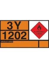 Hazchem Placard - Diesel/gas Oil Self Adhesive Vinyl
