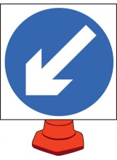 Keep Left - Cone Sign - 750mm