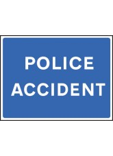 Fold Up Sign - Police Accident - 900 x 600mm