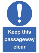 Keep this Passageway Clear - Floor Graphic