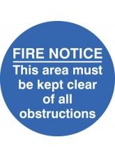 Fire Notice this Area Etc - Floor Graphic