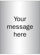 Design Your Own Brushed Aluminium Effect Sign - 150 x 200mm