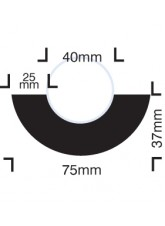 Impact Protection - Curvature for 40mm Diameter Pipes - Self Adhesive