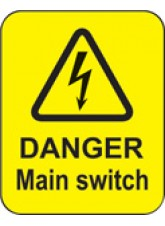 Danger Main Switch Labels