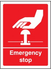 Emergency Stop (white/red)