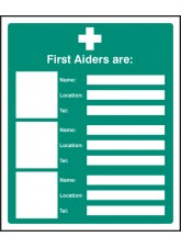 First Aiders Are (Space for 3)