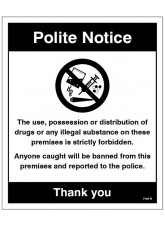 Drugs The use - possession or distribution of drugs is strictly prohibited…