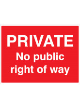 Private - No public right of way