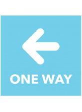 One Way - Arrow Left - Blue Floor Graphic